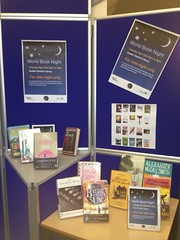 Exeter Central - World Book Night display (Devon Libraries) Tags: uk public library libraries devon exeter 2013 devonlibraries exetercentrallibrary worldbooknight2013 wbn13