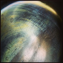 (Amber-Thomas) Tags: texture metal colours scratches saucepan flickrandroidapp:filter=none