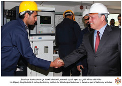 30-4-2013 (Royal Hashemite Court) Tags: training king day labor institute part ii his visiting  industries majesty activities abdullah    sahab    metallurgical