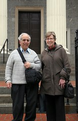 Jim, the Photographer and Therese in Front of the Cathedral of the Assumption of the Blessed Virgin Mary (Jim, the Photographer) Tags: catholic cathedral roman basilica baltimore assumption bvm
