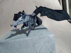 Demon Wolf (roodborst078) Tags: paper design wings origami wolf tissue mc tournament final round demon lobo winged folding odt roodborst falten flickran