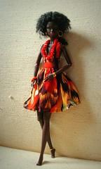 African girl (Deejay Bafaroy) Tags: red portrait orange brown black rot yellow toys doll dress portrt gelb braun fr nadja integrity kleid fashionroyalty theillusionist