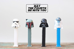 May The Fourth Be With You (Morrie & Oslo) Tags: pez starwars r2d2 stormtrooper darthvader swd starwarsday bobafet 2013 morrieandoslo