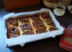 Chocolate Swirl Buns (ComeUndone) Tags: bread baking chocolate cinnamon swirl yeast bun americastestkitchen smittenkitchen cooksillustratedcookbook enricheddough
