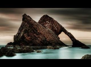 Bow Fiddle Rock. Portknockie. Aberdeenshire.