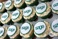 Sage Cupcakes (Baked. Cupcakery) Tags: birthday cakes cake newcastle logo corporate idea marketing cupcakes durham branded north east novelty printed discs sunderland supplier occassion cucpakes bakedcupcakery