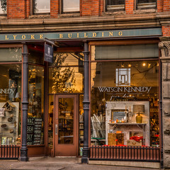 Seattle Store Fron (stephencurtin) Tags: seattle old trees windows light brick home glass fence golden store iron downtown front goods posts furnishings unanimous watsonkennedy thechallengefactory