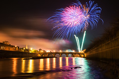 Strabane Halloween Fireworks Show 2014 (Gareth Wray Photography - Thanks = 5 Million Hits) Tags: show county street uk bridge ireland summer vacation sky irish holiday reflection tourism halloween nature water grass wall night reflections river reeds lens landscape photography town site nikon europe day photographer display fireworks side main country border wide scenic bank visit firework tourist fox british hd rays flowing ni colourful nikkor melvin northern gareth hdr mourne tyrone 2014 wray lifford riverscape strabane sperrins tonemapped 1024mm d5300 hdfox