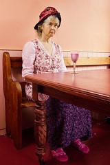The Milkshake Drinker (Apionid) Tags: degas absinthedrinker homage pink selfportrait melancholy nikond7000 werehere hereios 366the2016edition 3662016 day198366 16jul16
