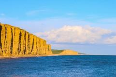 Jurassic cliffs (frankshepherd2) Tags: seascape canon70d dorsetcoast canonefsisusm1755f28lens canonphotography canon yellow england dorset broadchurch cliffs sandstone sand sea shore beach coastline jurassiccoast sunny