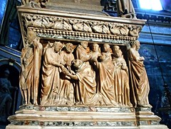 """Saint Peter and Saint Paul give the Gospel to Saint Dominic"" / ""Saint Dominic gives the Gospel to monks"" - Sarcophagus of Saint Dominic: 1265-1267 by Nicola Pisano, Arnolfo di Cambio, Pagno di Lapo and Fra' Guglielmo - San Domenico Church at Bologna (* Karl *) Tags: saintpeter saintpaul gospel arnolfodicambio bologna italy pagnodilapo nicolapisano fraguglielmo saintdominic"