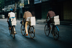 Newspaper guys (amirbangs) Tags: explore chittagong bangladesh paper newspaper dailys cycle morning deliveryman