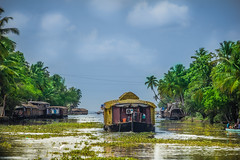 Kerala HouseBoat (Freddy Victor) Tags: houseboat kerala incredibleindia india traveldestination travel tourism trees sky backwaters boats scenic vacation