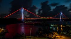UMT_7737-2 (UmitCukurel) Tags: bridge turkey istanbul bosphorus sony nikon lightroom d750 sonyalpha bogazici kopru night poyrazkoy battleship gemi sky sunset dusk gunbatimi cloud