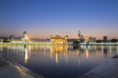 Spectacular Sunrise Behind the Golden Temple. (Tapas Ghosh Photography) Tags: india incradibleindia travel travelphotography cultural tradition punjab goldentemple gold architecture glow religious sunrise spectacular gurudwara peace peacefulsoul life journey devotion harimandir