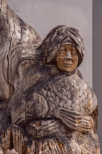 Mermaid Carving -- Detail