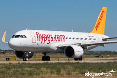@TC-NBA_BLQ_13-08-16 CROP (Andrea Lugo) Tags: tcnba pegasus airbus a320 neo saw bologna lipe planespotting blq marconi
