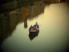 moments....Firenze (Eirini Zag) Tags: boat moments travelling pontevecchio arno river firenze italia