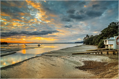 High and Dry (Marketkid) Tags: sunset coxsbay wow waterscape clouds