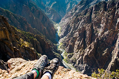Kickin' our Feet Back (thecheetahexpress) Tags: black canyon gunnison hiking shoes merrell moab national park colorado montrose view canyons