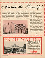 Vacationland, Summer 1960 14 - America the Beautiful (Tom Simpson) Tags: vacationland vintage 1960 1960s americathebeautiful disney disneyland redwagon restaurant