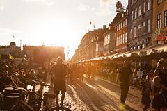 Kbenhavn (s.f.p.) Tags: kbenhavn nyhavn copenhaguen denmark copenhague dinamarca street sunset sun backlight people summer travel northern europe europa european northe viajar verano gente contraluz sol atardecer calle