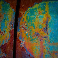 Abstract (StephenReed) Tags: abstract art abstractart metal rust paint chippedpaint gap colors squareformat nikond3300 stephenreed