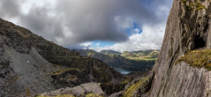 Dinorwic Quarry Panorama (Geoff Moore UK) Tags: panorama outdoors landscape vista quarry mining slate wales welsh snowdonia sunrise adventure travelling countryside cave mountain