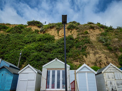 Beach Huts In Danger (Rob Jennings2) Tags: isleofwight iow beachhuts cliffs unstable erosion sandown shanklin danger