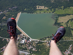 Flying Part II (pvanhala) Tags: tribalj croatia lake mountain hill paragliding gliding tandem air flying view