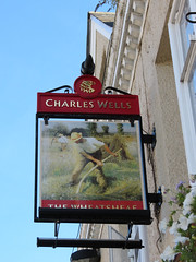 Enfield IMG_8412 (rowchester) Tags: pubsign sign public house tavern inn wheatsheaf charles wells scythe
