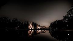 Tinieblas en el Templo de Debod (pepoexpress - A few million thanks!) Tags: nikon nikond600 nikond6001424mmf28 1424afs 1424mm d6001424mm d6001424f28 pepoexpress templodedebod templodedebodmadridspain night nightphotography citynight bw sunset madrid water sky skyline