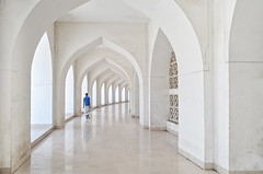 The white path! (ashik mahmud 1847) Tags: bangladesh d5100 nikkor outdoor pattern architecture white people path man blue design art ngc