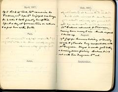 Diary of Robert Wallace p.67 (Community Archives of Belleville & Hastings County) Tags: 1880s 1890s 1900s 1910s 1920s diaries homechildren