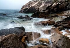Acadia National Park (rickhanger) Tags: acadia acadianationalpark acadianp sandbeach ocean oceanfog fog foggy waves shoreline nature landscape
