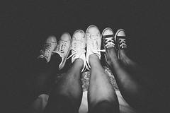 Summer nights (Silvia Piffaretti) Tags: blackandwhite biancoenero shoes nght summer july andora sea beach stars