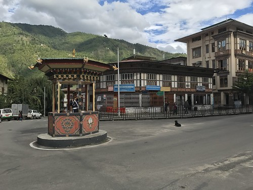 Thimpu's human traffic light