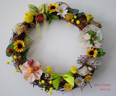 My creation (fiammetta53) Tags: easter chick wreath pasqua pulcino ghirlanda fiammetta53