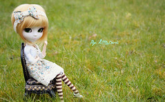 P'tit Biscuit ~ (Little.Darki) Tags: green animal golden eyes doll eyelashes goldenrod vert cm 25 wig faux rod bjd pullip marraine perruque nella jeux cils sbhs verts animaleyes leeke obitsu eyechips 25cm rewigged naroo fauxcils rechipped ermeline obitsued pullipnella