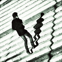 dance with your shadow (fotobananas) Tags: shadow canon dance s95 fotobananas snapseed