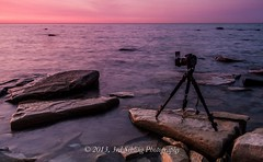 North Point Sunrise (Don3rdSE) Tags: camera longexposure lake color nature water wisconsin sunrise canon eos march rocks tripod lakemichigan northshore milwaukee 7d wi waterscape lansscape 2013 canon7d don3rdse