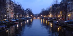 Keizersgracht in the Evening (foilman) Tags: water amsterdam boats lights canal keizersgracht