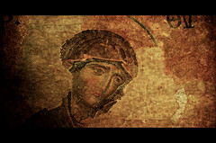 Byzantine Art (Nikos Niotis) Tags: art face turkey greek europe european roman mosaic madonna istanbul tiles christianity eastern orthodox hagiasophia wallpainting byzantine motherofgod panagia blinkagain rememberthatmomentlevel1