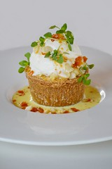 Kittle Krack Cake (Mike65444) Tags: food cake dessert coconut icecream brunch macadamia nut brittle cremeanglaise crmealanglaise awarmcakewithcoconuticecream