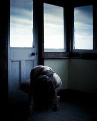 The Maybe So (sadandbeautiful (Sarah)) Tags: door uk windows portrait england woman house selfportrait abandoned me female self