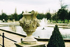 Roll 2 - Italian Gardens, Hyde Park (Cris Ward) Tags: park camera old city uk orange lake color colour building slr london art film water fountain pool yellow architecture rollei analog 35mm vintage landscape daylight lomo xpro lomography construction warm cross britain crossprocess grain slide retro hyde architect crossprocessing april hydepark analogue manual noise processed e6 yashica blown colorshift lsi c41 2013 yashicafxd colorreversal cr200 lomolab digibase rolleidigibasecr200