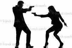 couple woman man detective secret agent criminal  silhouette (Franck Camhi) Tags: 007 fulllength shadow silhouette adults aiming caucasian couples crime criminal cutout detective elegance elegant female gangster girl glamour gun handgun heterosexual holding indoors isolated jamesbond justice killer law male man murderer mysterious mystery one partnership people person police secretagent secretservice sensuality sexy shooting spy studioshot team two weapon white whitebackground woman