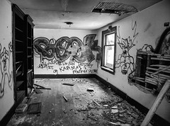 Murder House Main Floor (red_dotdesign) Tags: bw abandoned rurex