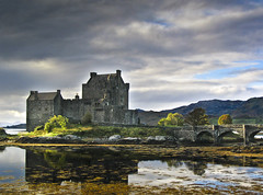 eilean donan 1 (Scotty Rae) Tags: lake storm reflection skye castle landscape scotland highlands day highlander loch eileandonan lochalsh