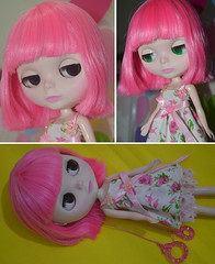 Blythe - Pink Hair - Adotada!